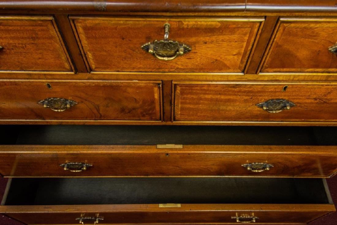 Queen Anne Style 7 Drawer Bureau / Dresser - 7
