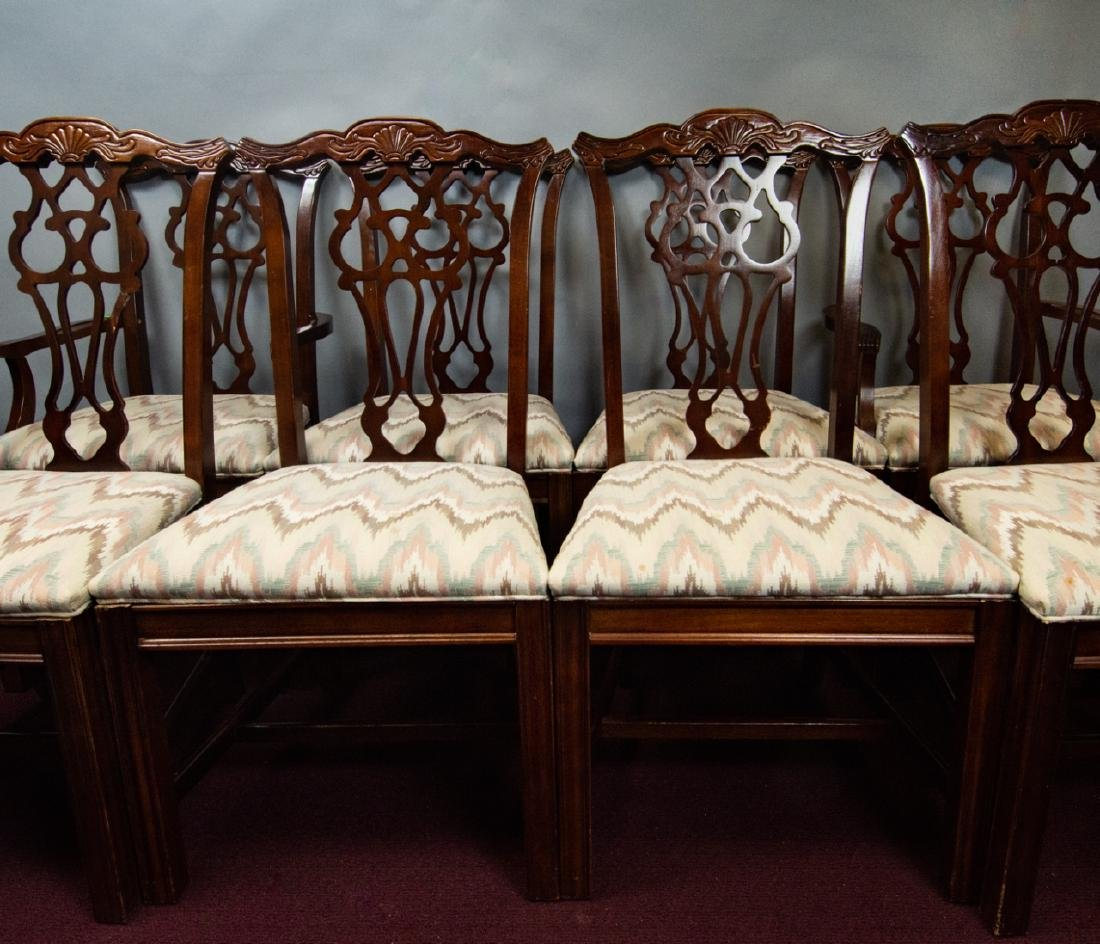 8 Bernhardt Chippendale Style Dining Chairs - 10