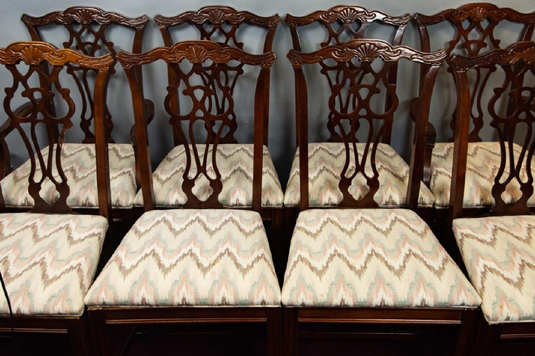 8 Bernhardt Chippendale Style Dining Chairs