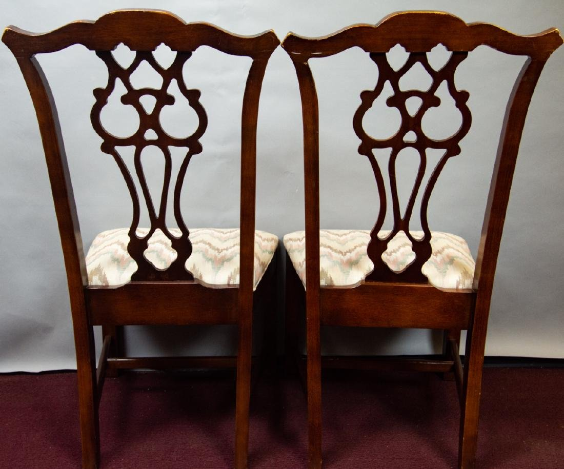 8 Bernhardt Chippendale Style Dining Chairs - 2