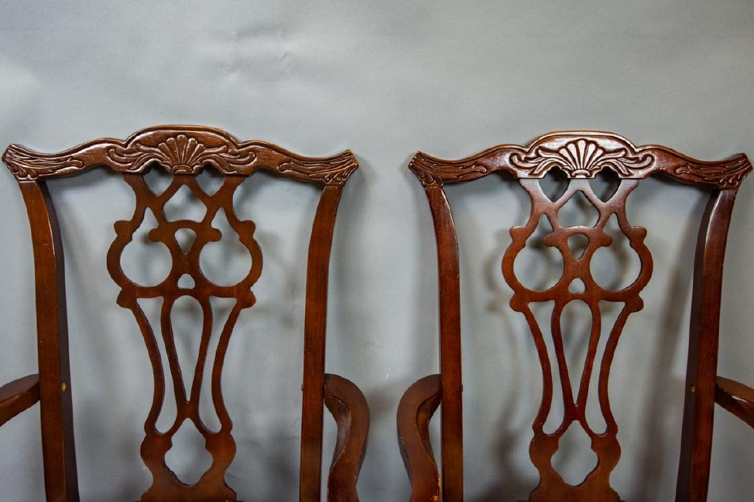 8 Bernhardt Chippendale Style Dining Chairs - 4