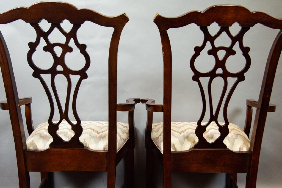 8 Bernhardt Chippendale Style Dining Chairs - 9