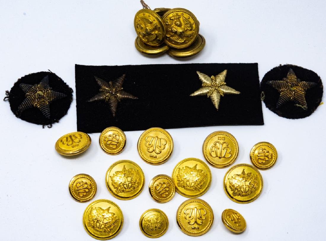 WWI / II Military Apparel Buttons and Patches