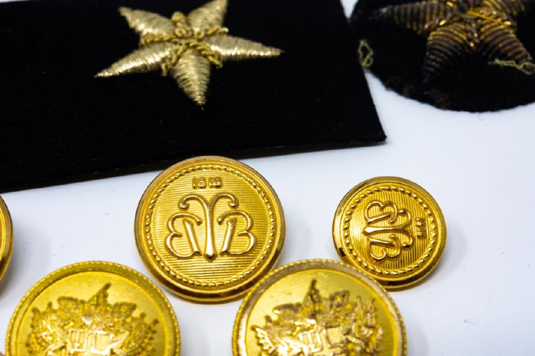 WWI / II Military Apparel Buttons and Patches - 6