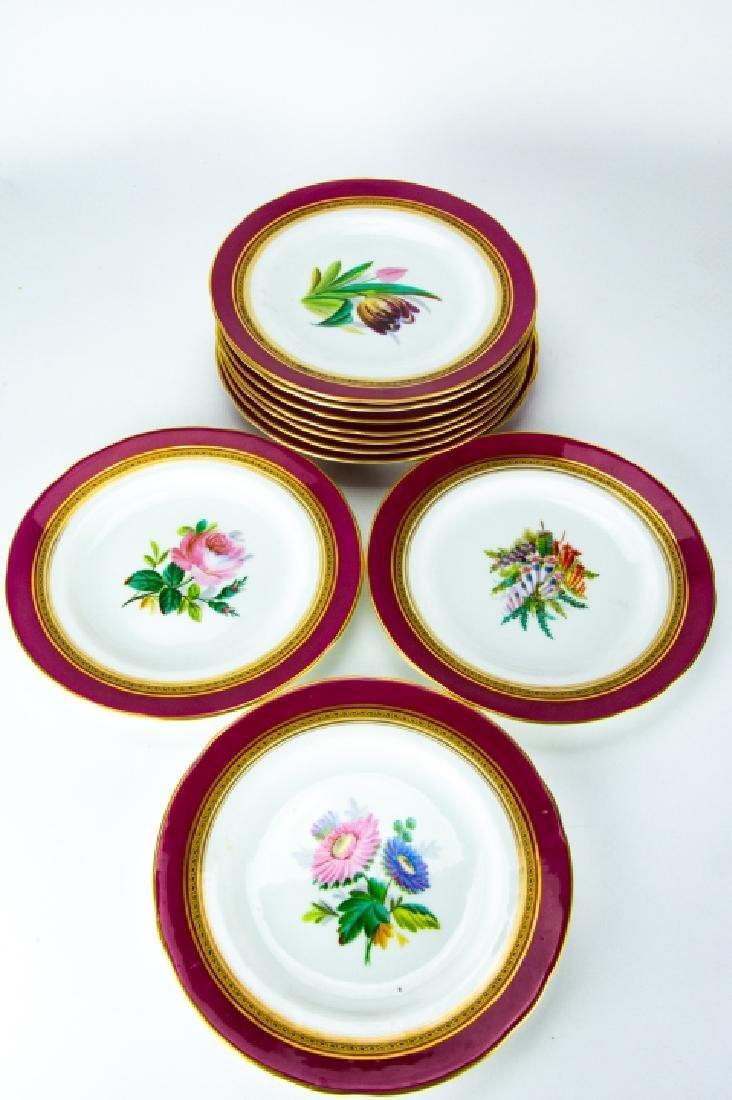 Antique Minton 4 Cake Stands + 11 Plates - 2