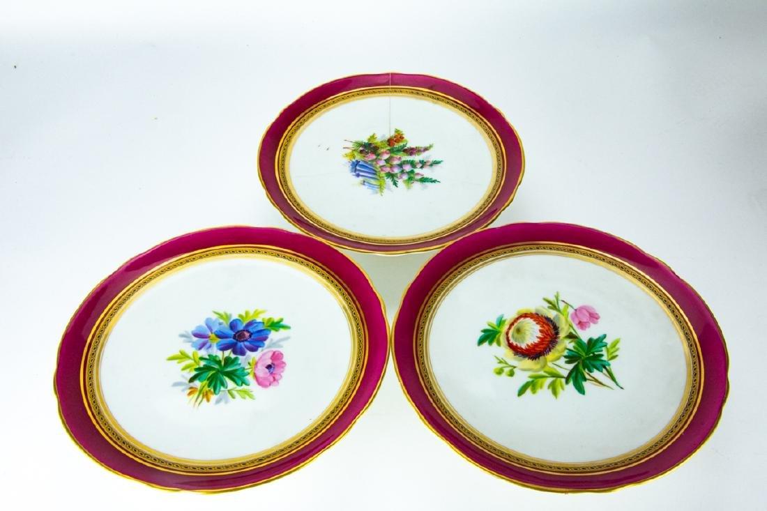 Antique Minton 4 Cake Stands + 11 Plates - 8