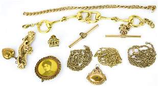 Lot of Victorian Gold Filled Bits  Bobs