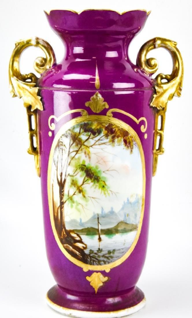 Large Antique 19th C Old Paris Porcelain Urn Vase