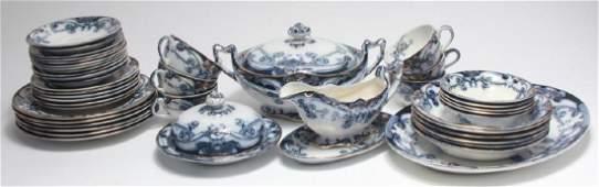 "Royal Staffordshire Pottery ""Iris"" Dinner Service"
