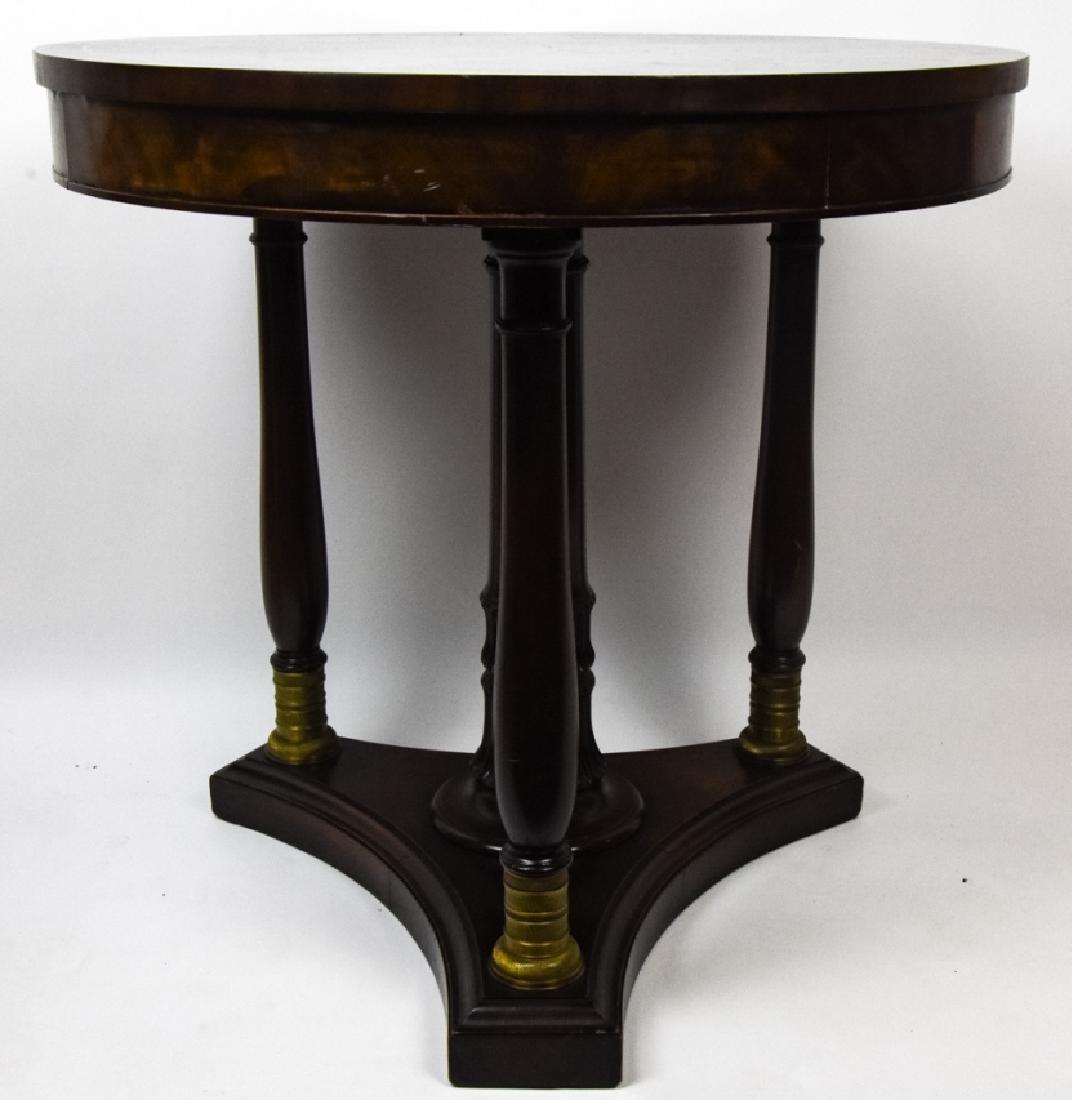 American Empire Style Mahogany Side Table