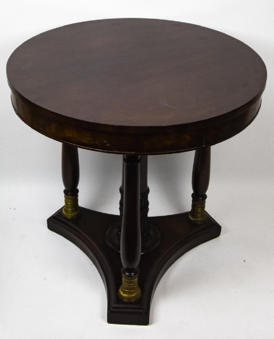 American Empire Style Mahogany Side Table - 7