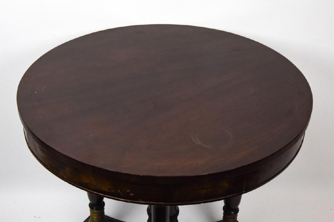 American Empire Style Mahogany Side Table - 8