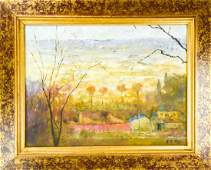 Chinese Signed Landscape Oil Painting