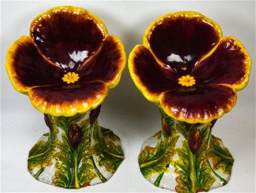 Wondrous 2 Italian Glazed Terracotta Figural Garden Seats Pabps2019 Chair Design Images Pabps2019Com