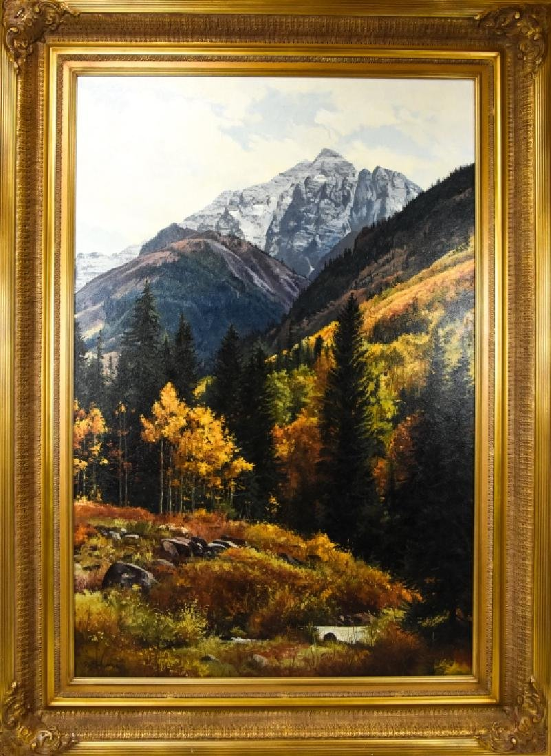 "Ray Swanson ""Autumn's Palette"" Oil Painting"