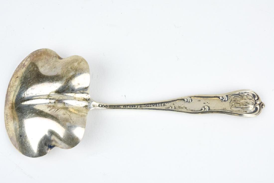 Antique Sterling Silver J E Caldwell Serving Spoon - 6