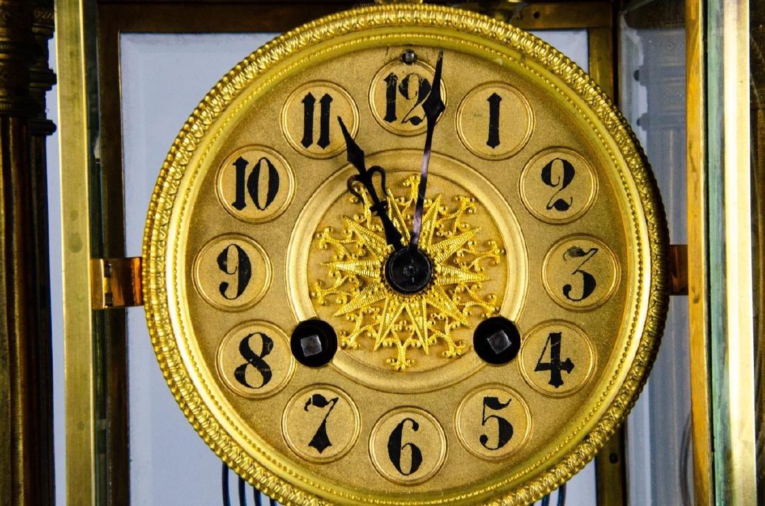 Antique French Empire Gilt Bronze & Marble Clock - 2