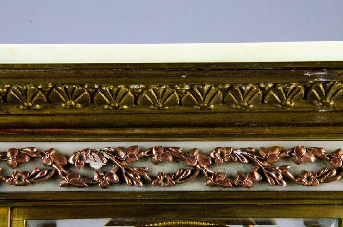 Antique French Empire Gilt Bronze & Marble Clock - 5