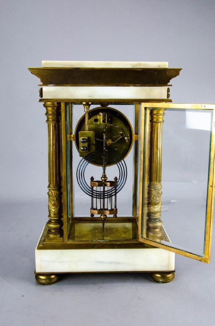 Antique French Empire Gilt Bronze & Marble Clock - 7