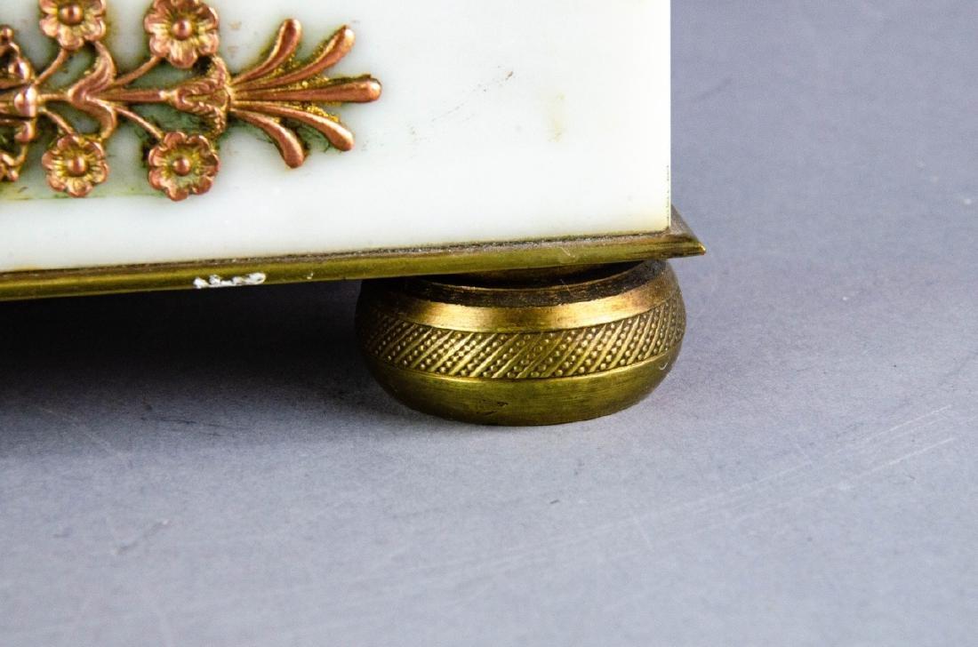 Antique French Empire Gilt Bronze & Marble Clock - 9
