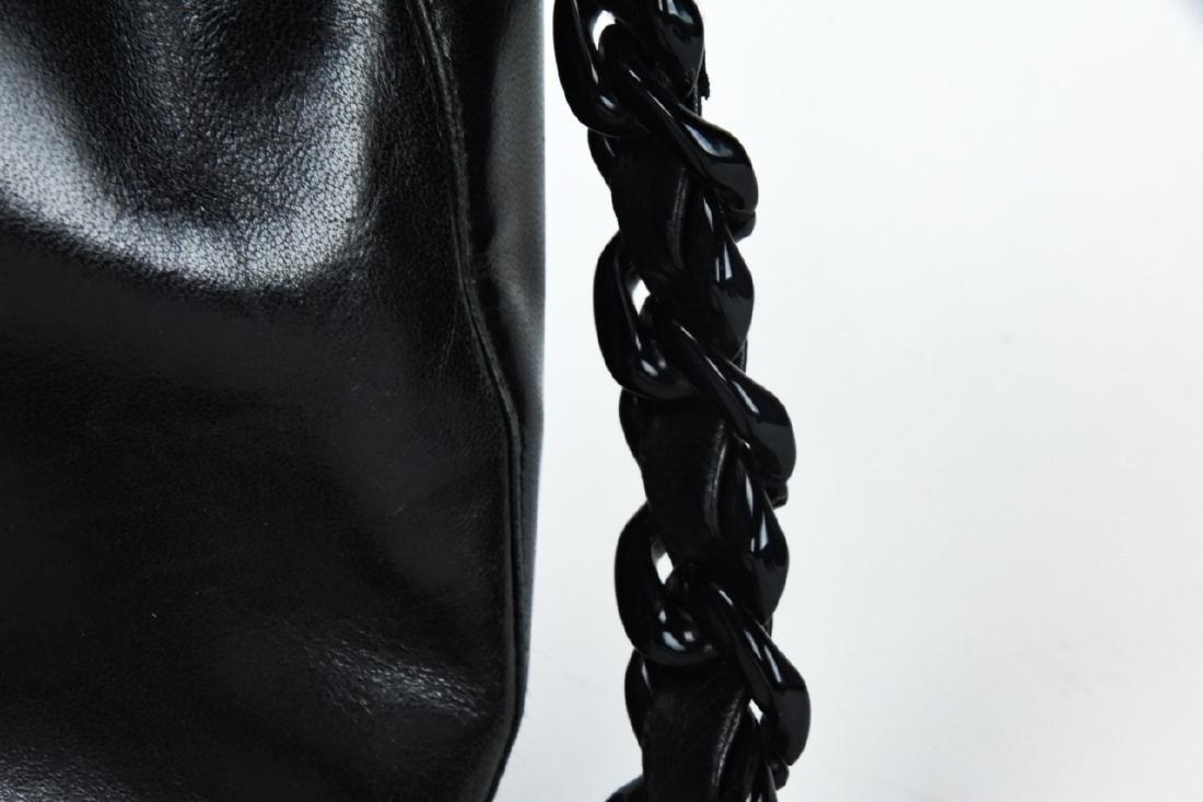 Prada Italian Black Leather Handbag / Purse - 4