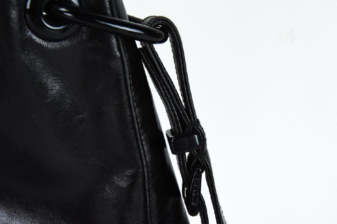 Prada Italian Black Leather Handbag / Purse - 5