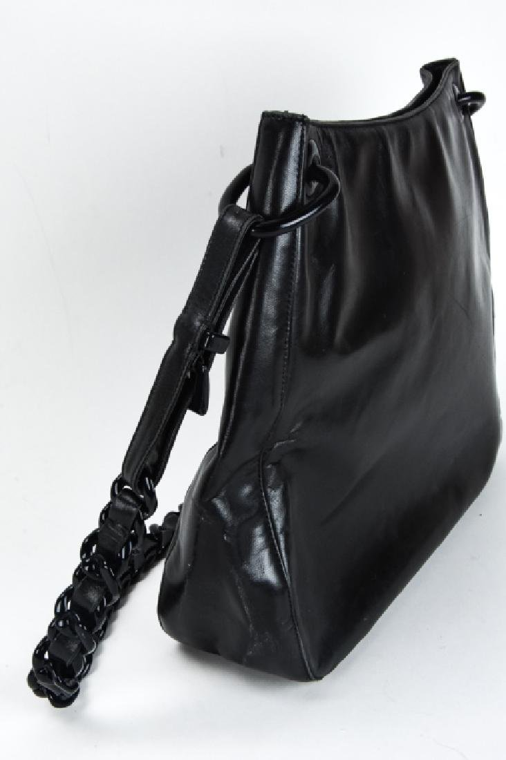 Prada Italian Black Leather Handbag / Purse - 6
