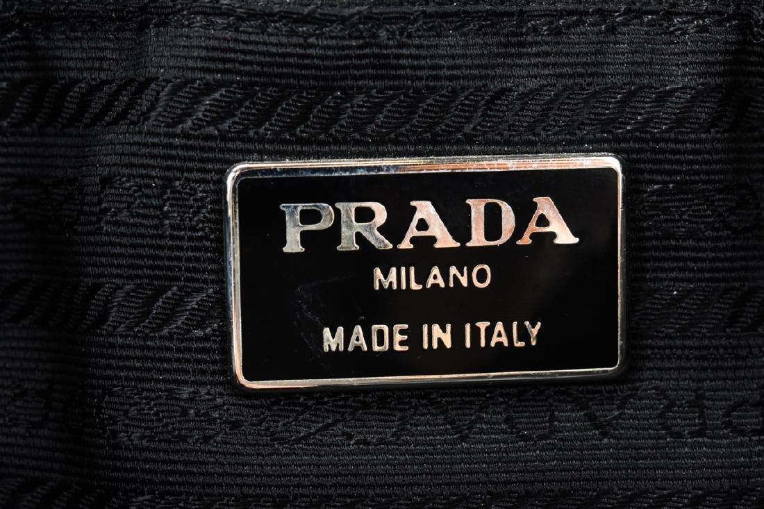 Prada Italian Black Leather Handbag / Purse - 7
