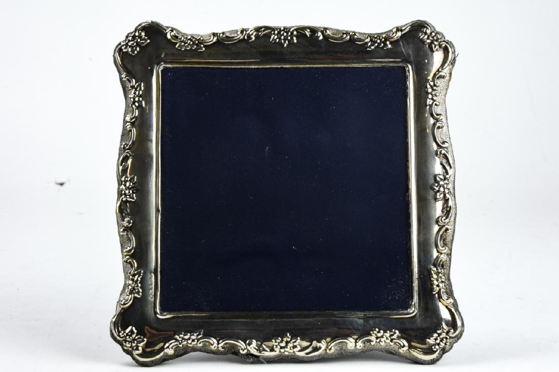 3 Sterling Silver Standing Picture Frames - 10