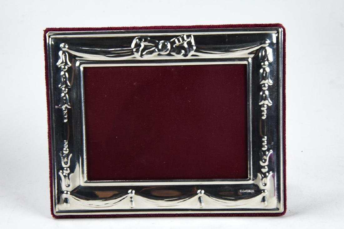 3 Sterling Silver Standing Picture Frames - 4