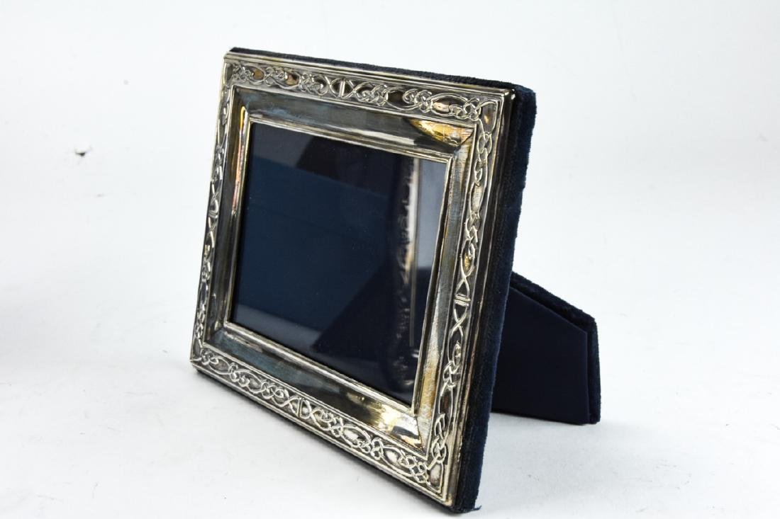 3 Sterling Silver Standing Picture Frames - 8