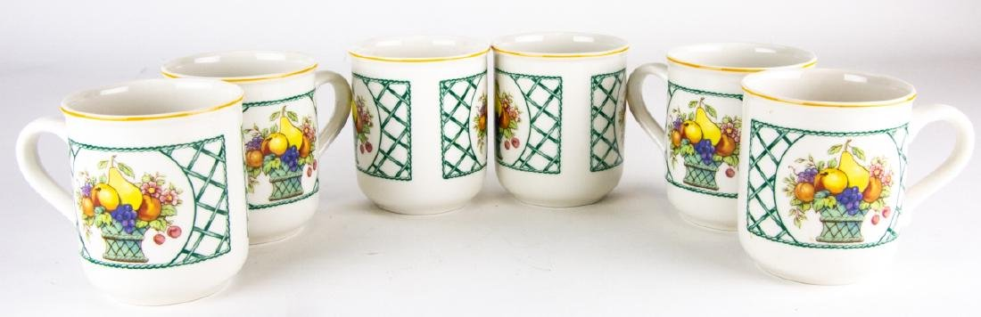Six Villeroy & Boch Country Collection Mugs / Cups