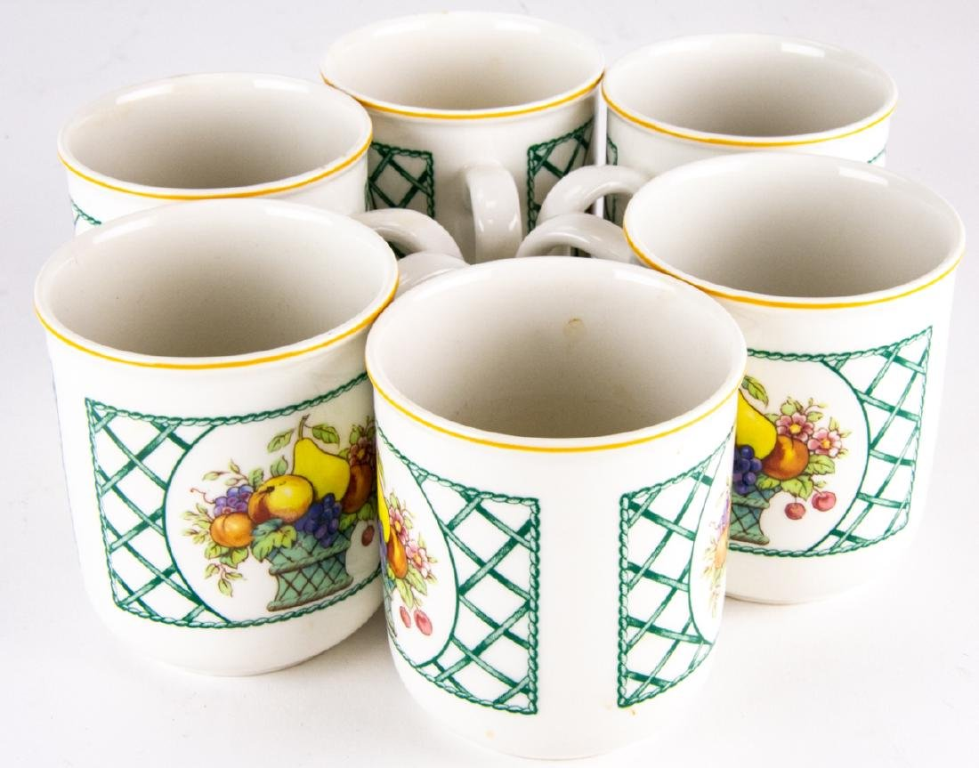 Six Villeroy & Boch Country Collection Mugs / Cups - 2