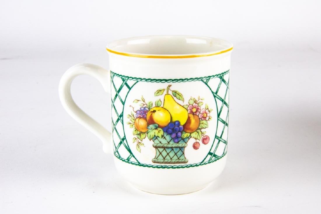 Six Villeroy & Boch Country Collection Mugs / Cups - 3