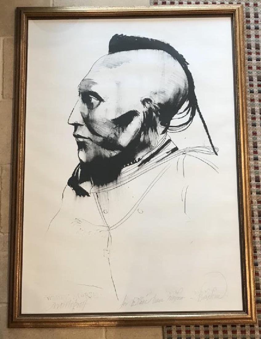 Leonard Baskin Artist Proof Signed Native American
