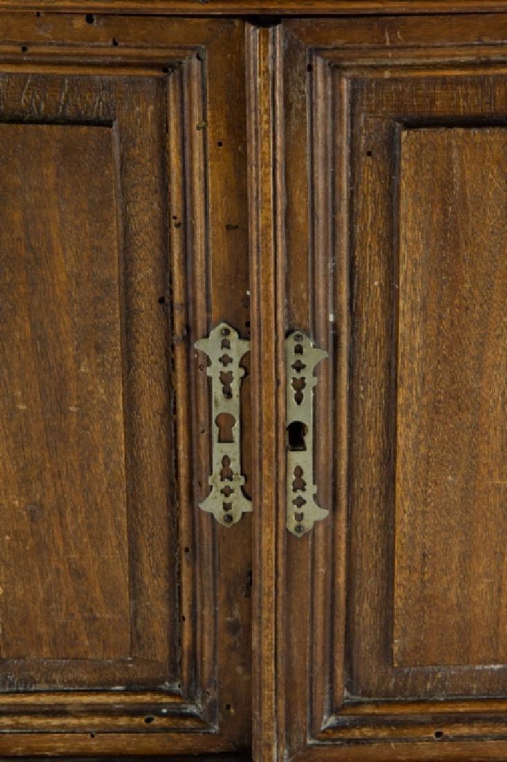 Antique 19th C Doll Size Miniature Armoire Cabinet - 8