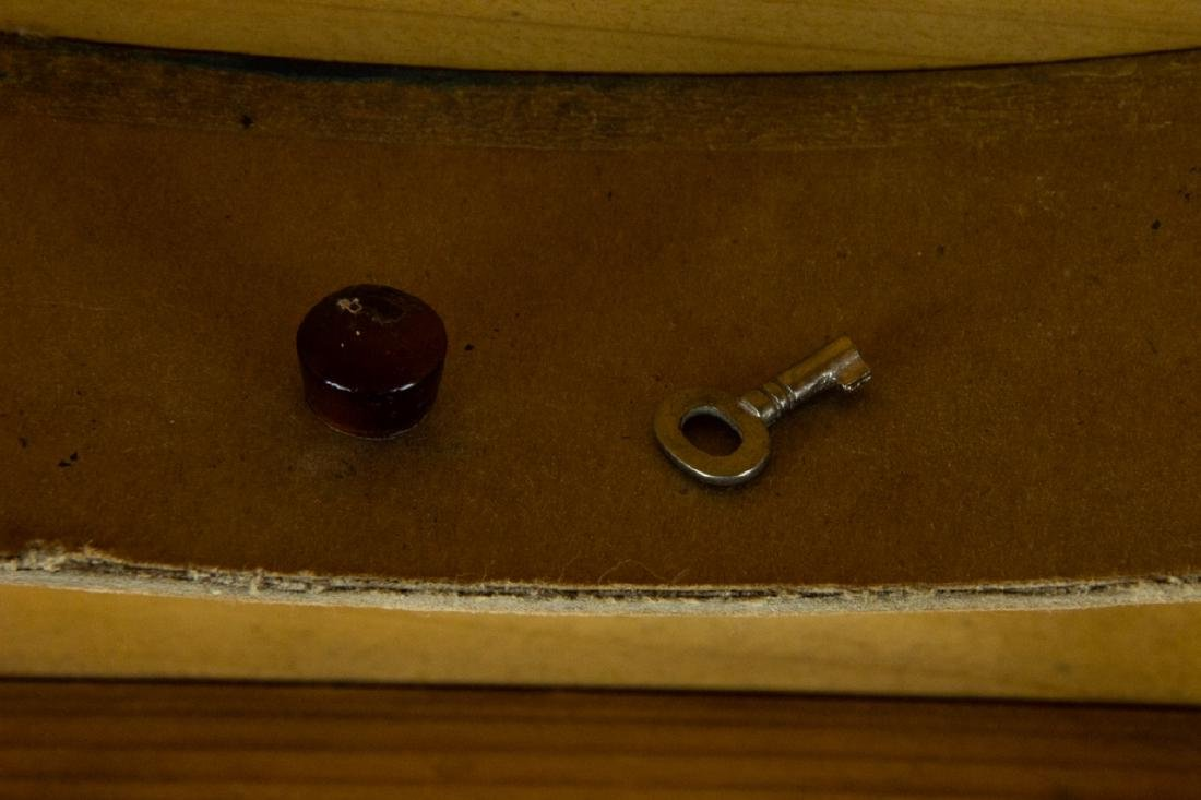 Antique 19th C Doll Size Miniature Armoire Cabinet - 9