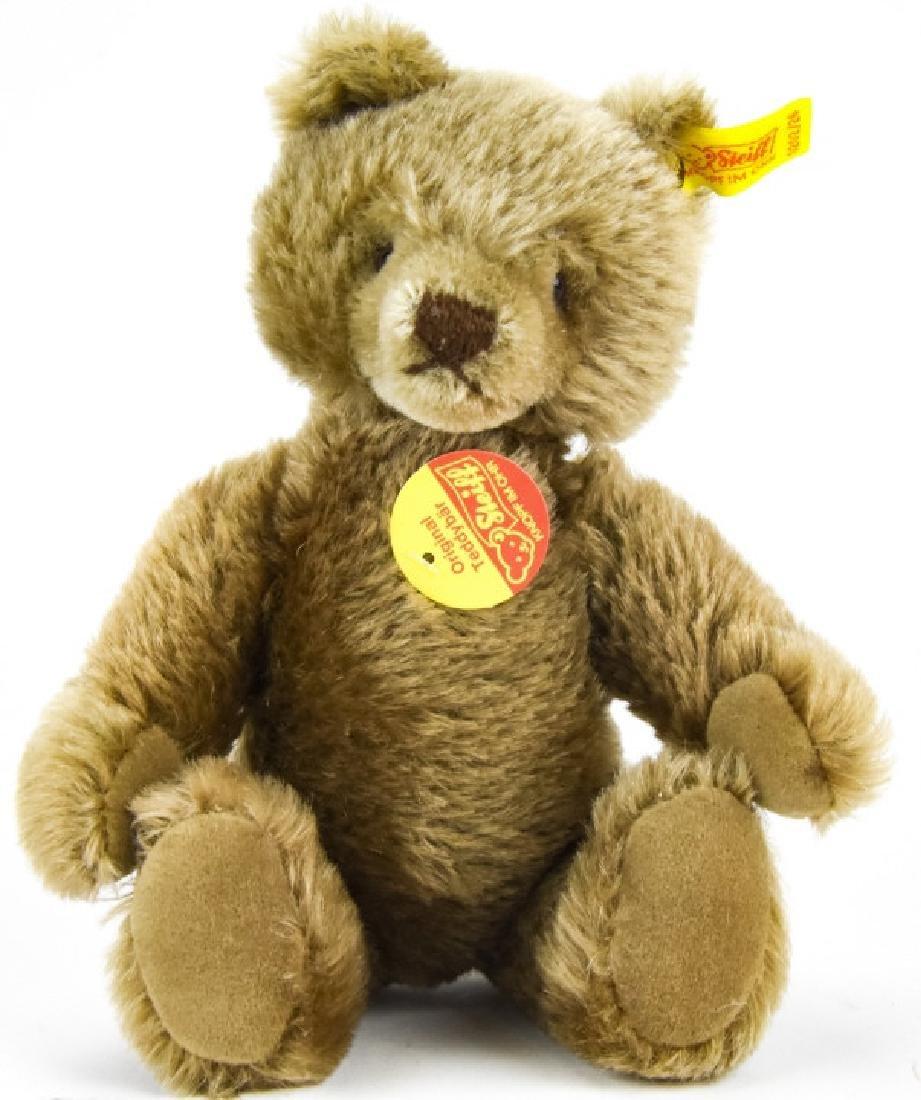 Vintage German Steiff Mohair Teddy Bear w Button