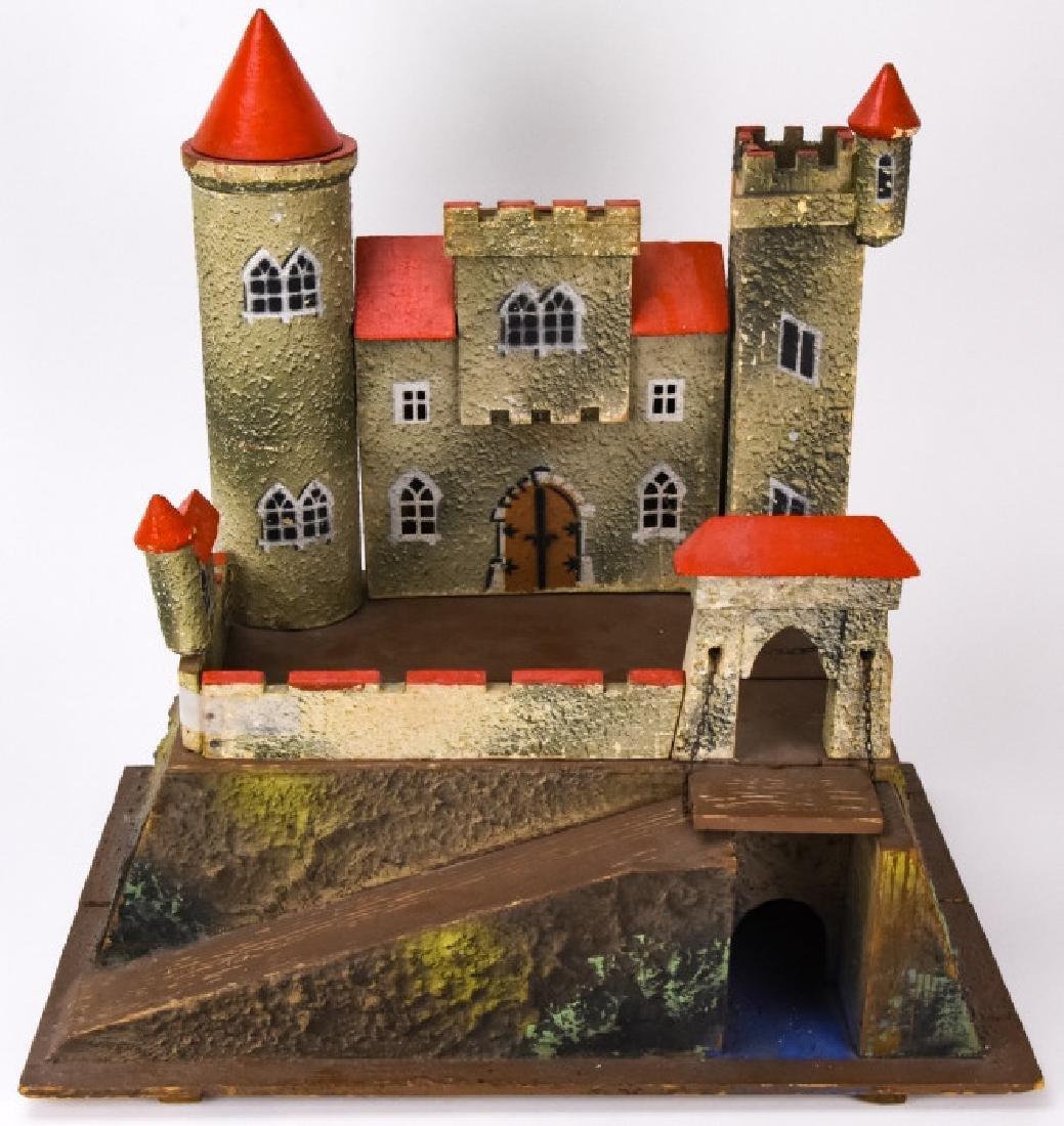 Antique German Dollhouse Miniature Castle / Fort