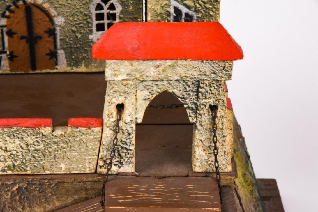 Antique German Dollhouse Miniature Castle / Fort - 3