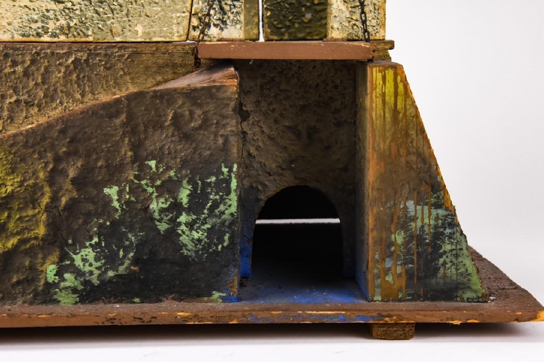 Antique German Dollhouse Miniature Castle / Fort - 5