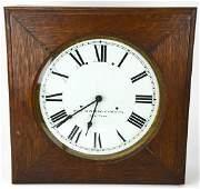 Large Antique Self Winding Clock Co New York