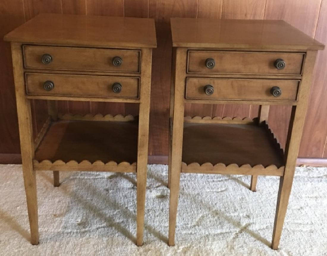Pair Vintage Wooden Nightstands / End Tables