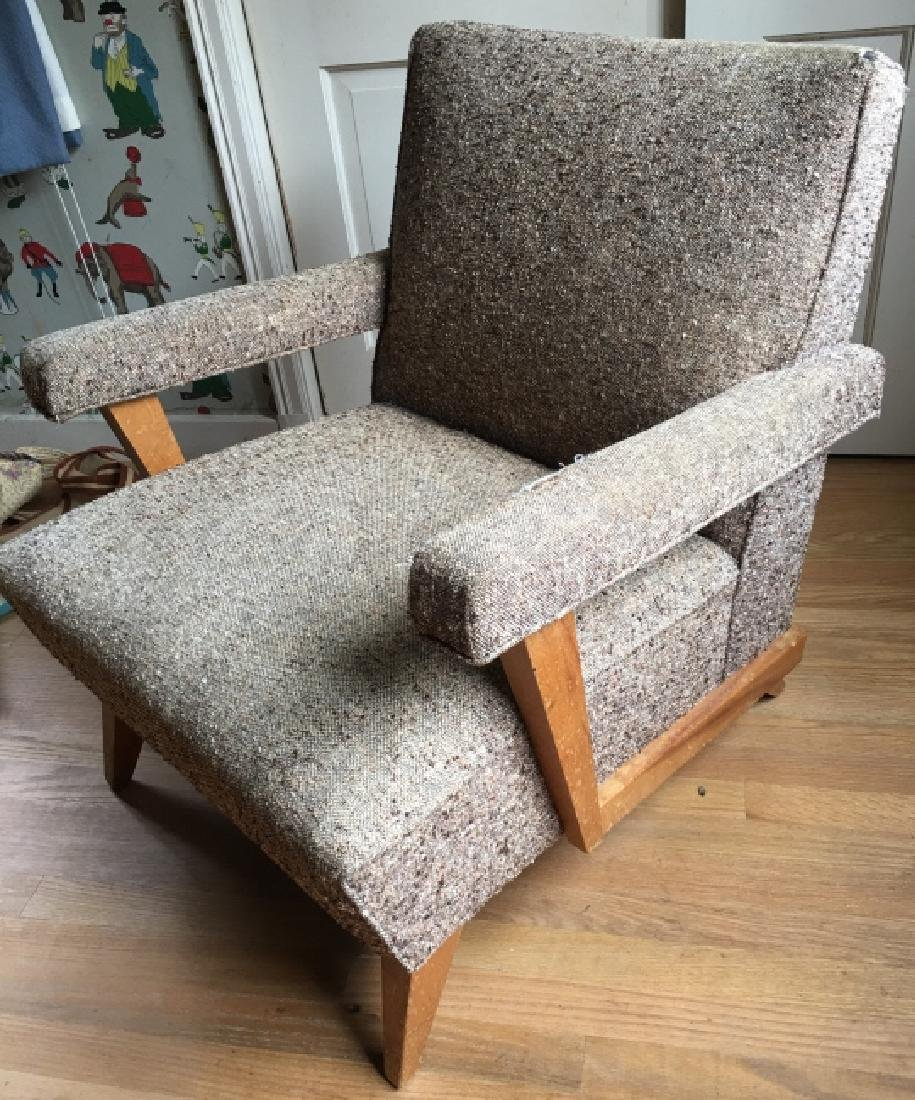 Mid Century Modern Style Upholstered Arm Chair