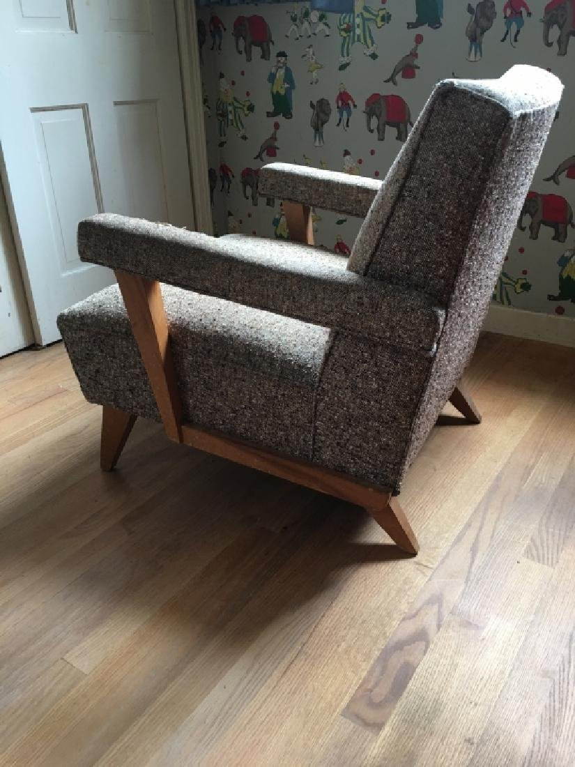 Mid Century Modern Style Upholstered Arm Chair - 2