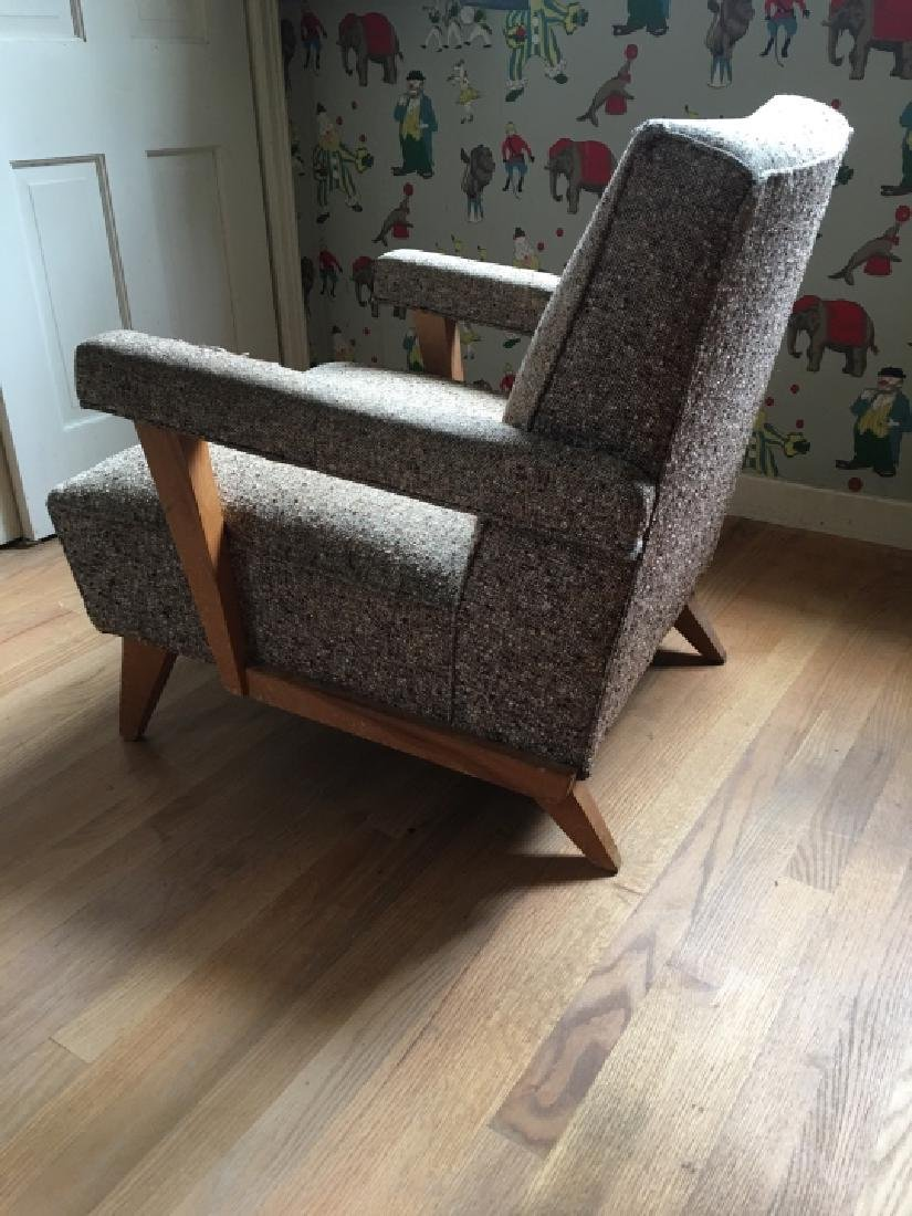 Mid Century Modern Style Upholstered Arm Chair - 6