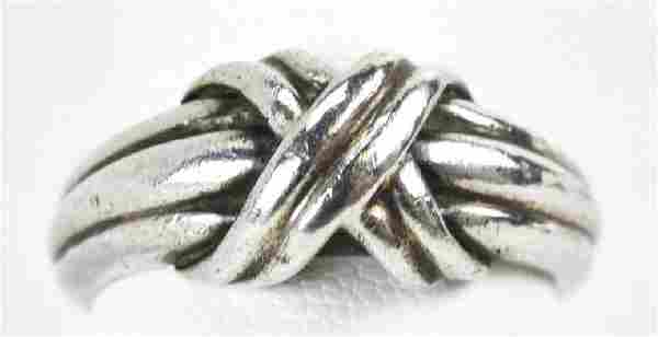 Vintage Tiffany & Co Sterling Silver Knot Ring