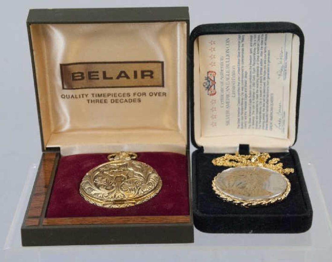 Belair Pocket Watch & Silver Dollar Pendant