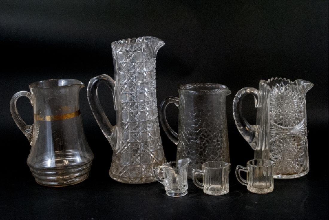 Vintage Cut Lead Crystal & Glass Pitchers