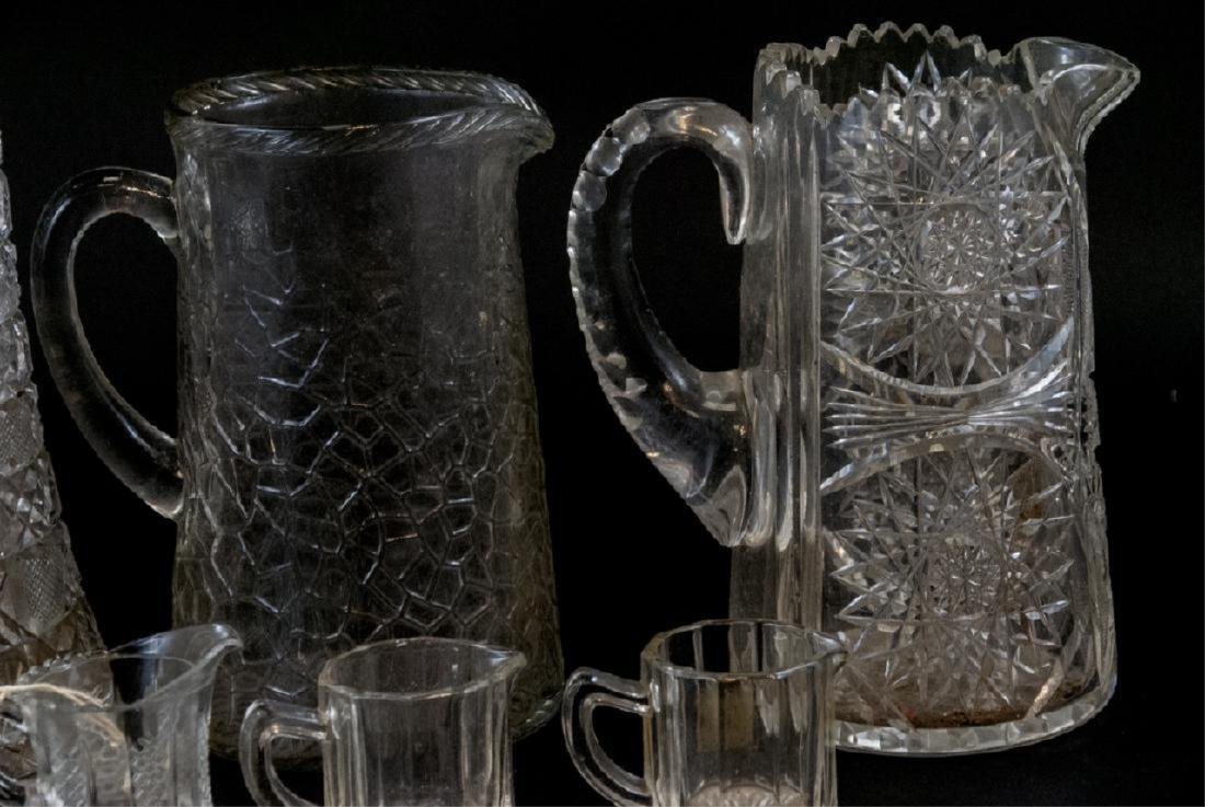 Vintage Cut Lead Crystal & Glass Pitchers - 2